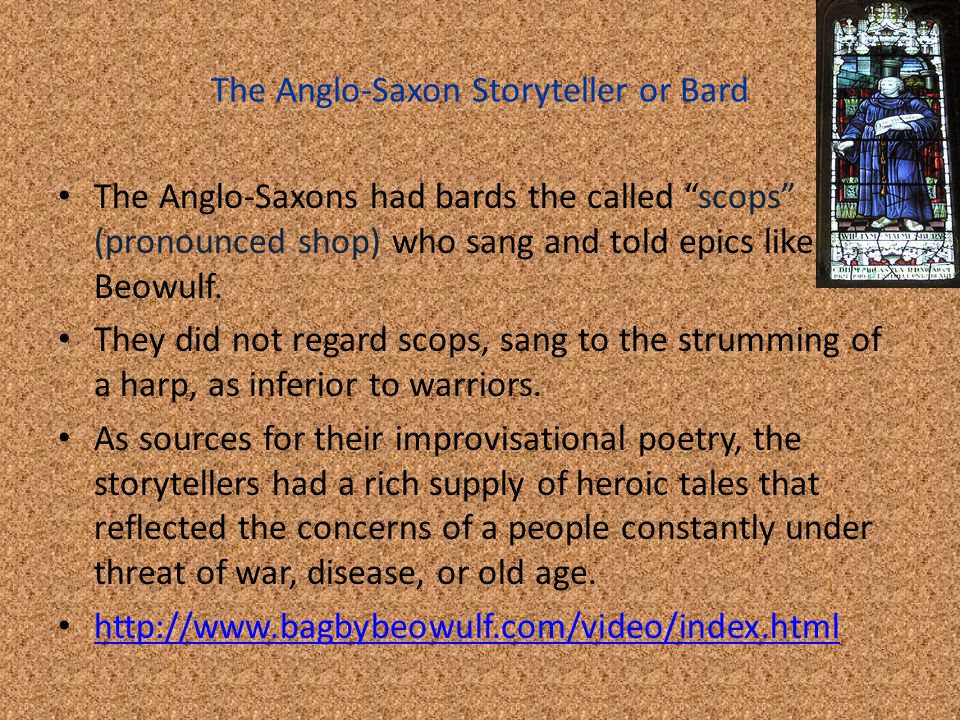 The Anglo-Saxon Storyteller or Bard