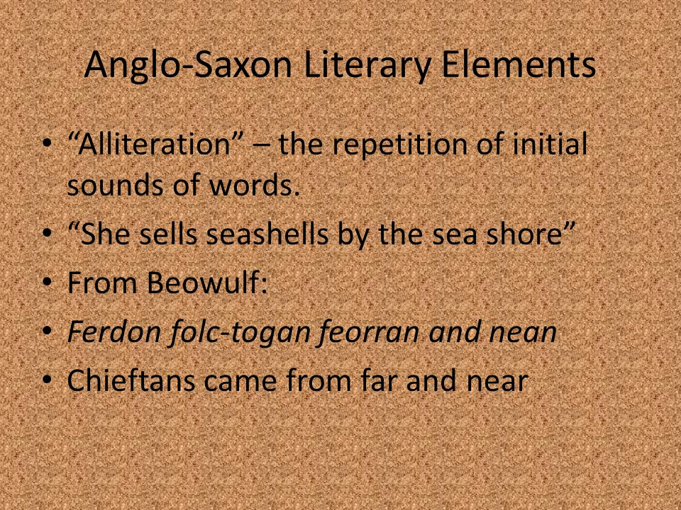 Anglo-Saxon Literary Elements