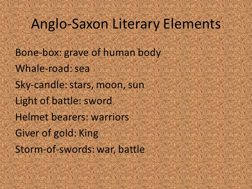 the anglo saxon literature essay In this paper the three stages of the anglo-saxon period essays related to the anglo-saxon or in this case music and literature were not meant.