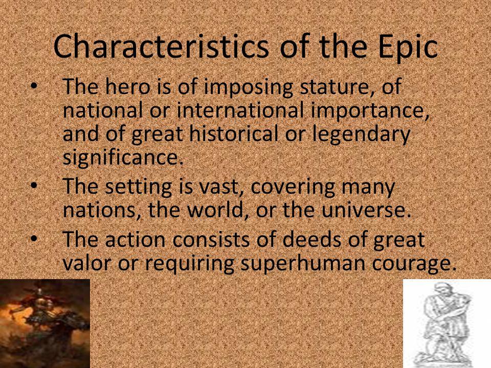 Characteristics of the Epic