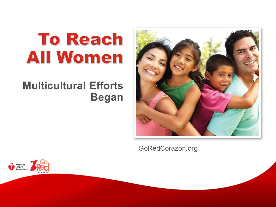 To Reach All Women Multicultural Efforts Began GoRedCorazon.org