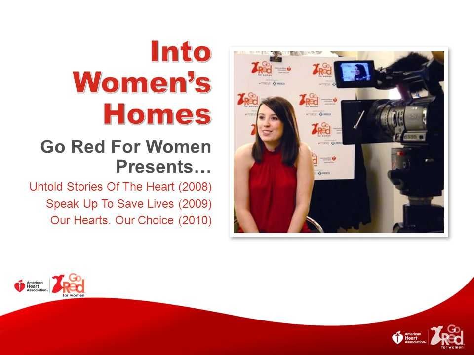 Into Women's Homes Go Red For Women Presents…