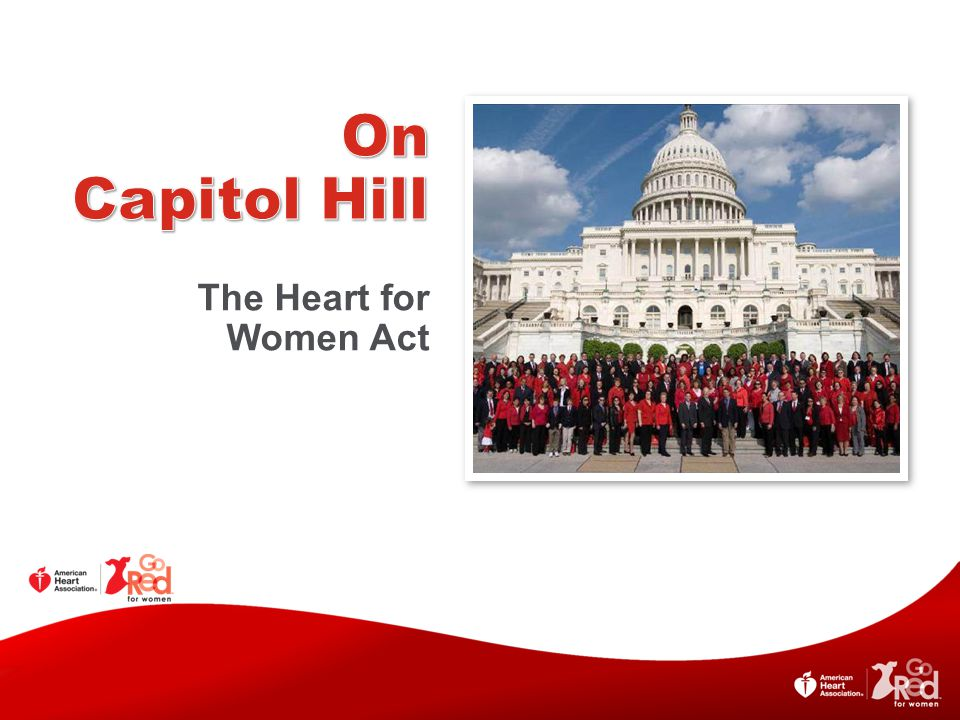 On Capitol Hill The Heart for Women Act