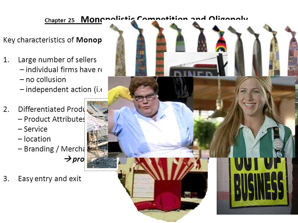 Chapter 25 Monopolistic Competition and Oligopoly