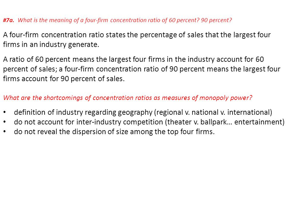 do not reveal the dispersion of size among the top four firms.