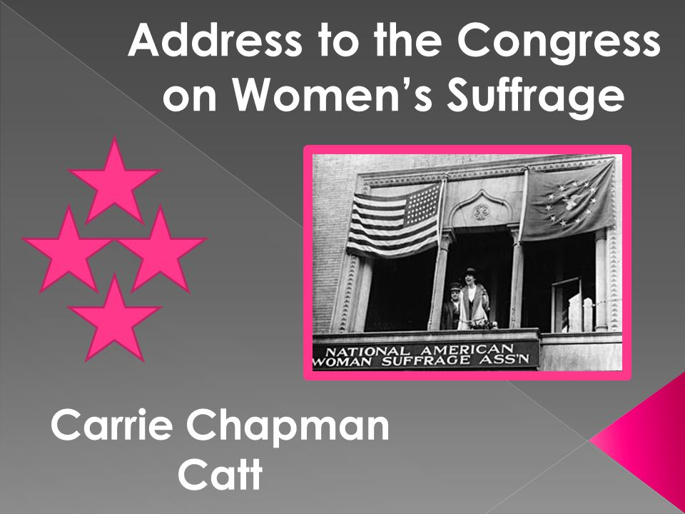 Address to the Congress on Women's Suffrage