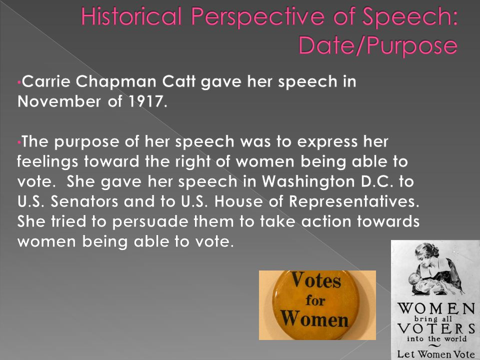 Historical Perspective of Speech: Date/Purpose
