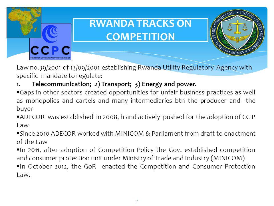 RWANDA TRACKS ON COMPETITION