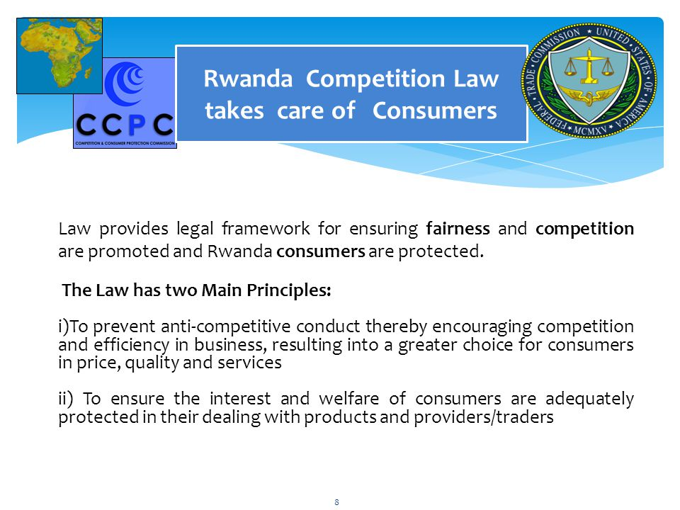 Rwanda Competition Law takes care of Consumers