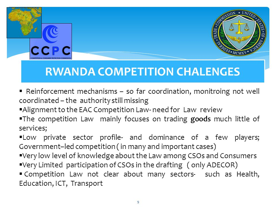 RWANDA COMPETITION CHALENGES