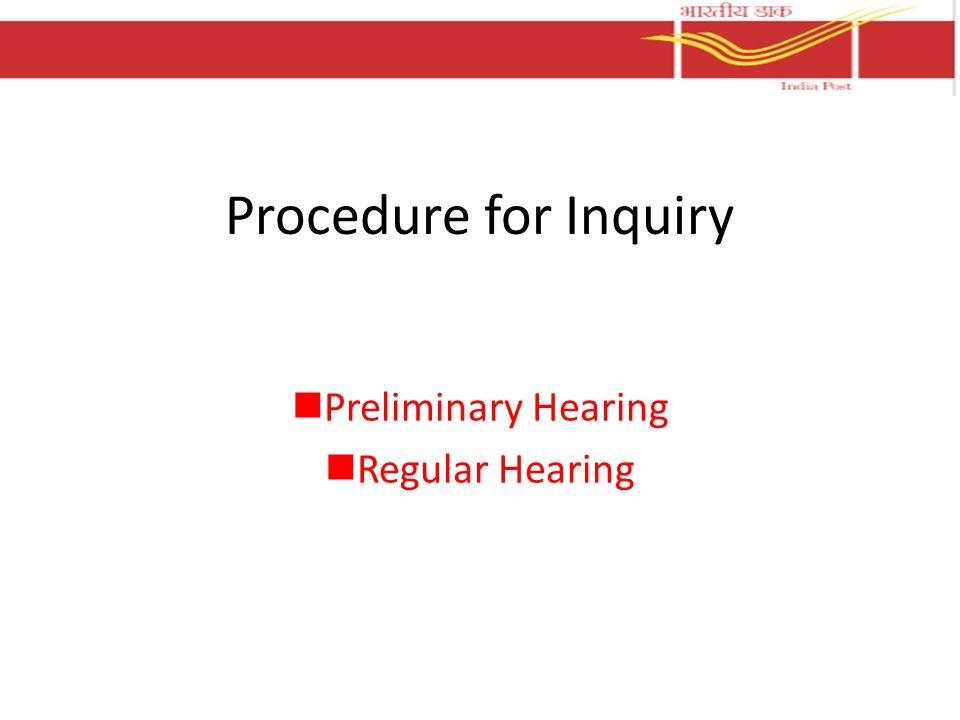 Preliminary Hearing Regular Hearing