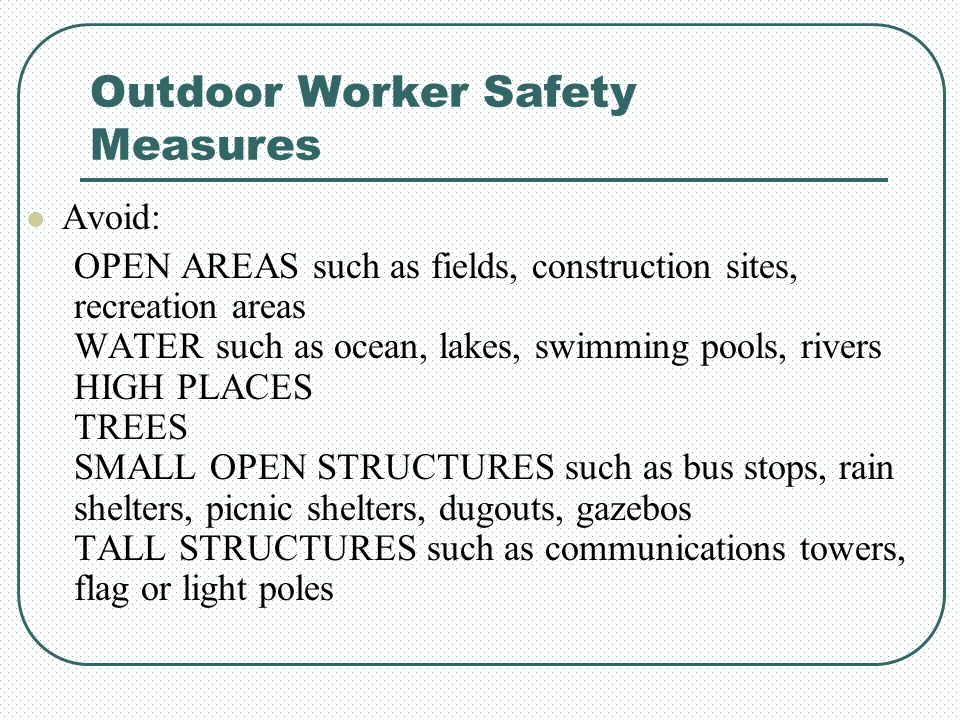 Outdoor Worker Safety Measures