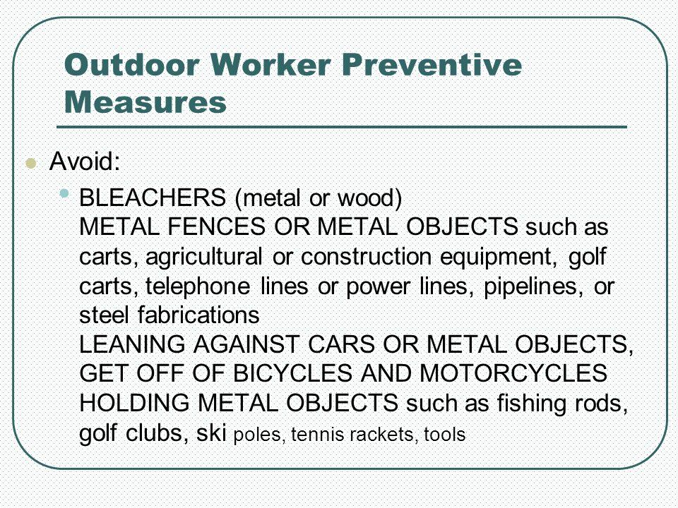 Outdoor Worker Preventive Measures