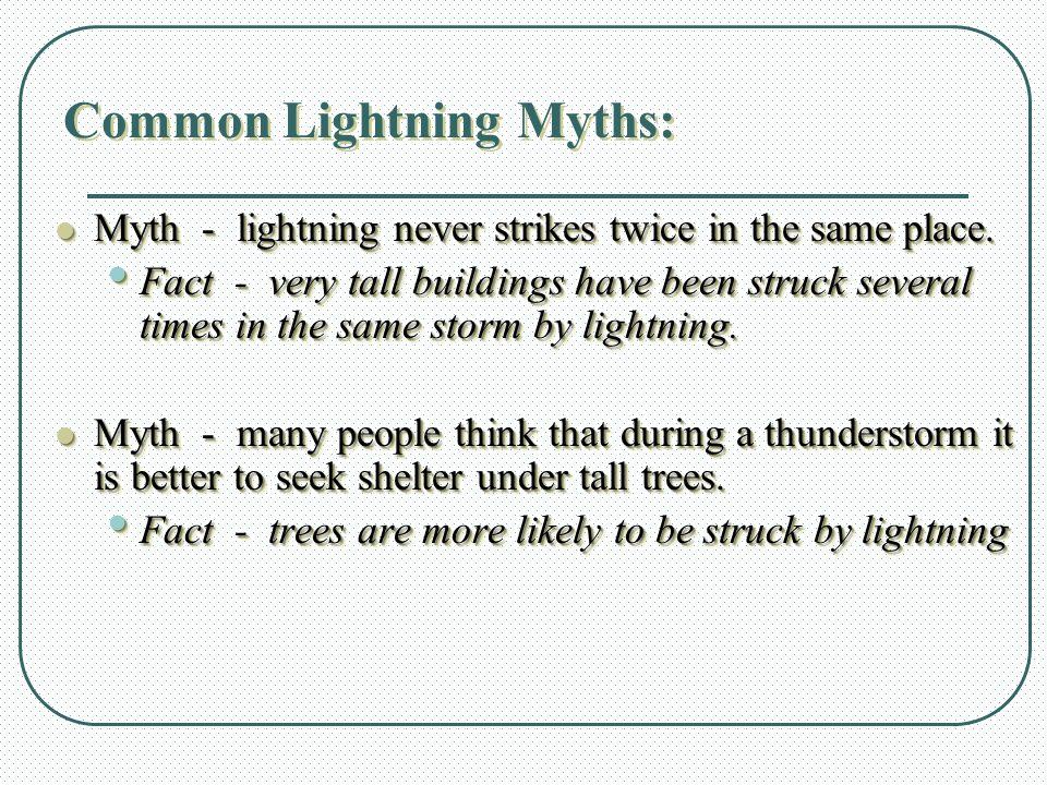 Common Lightning Myths: