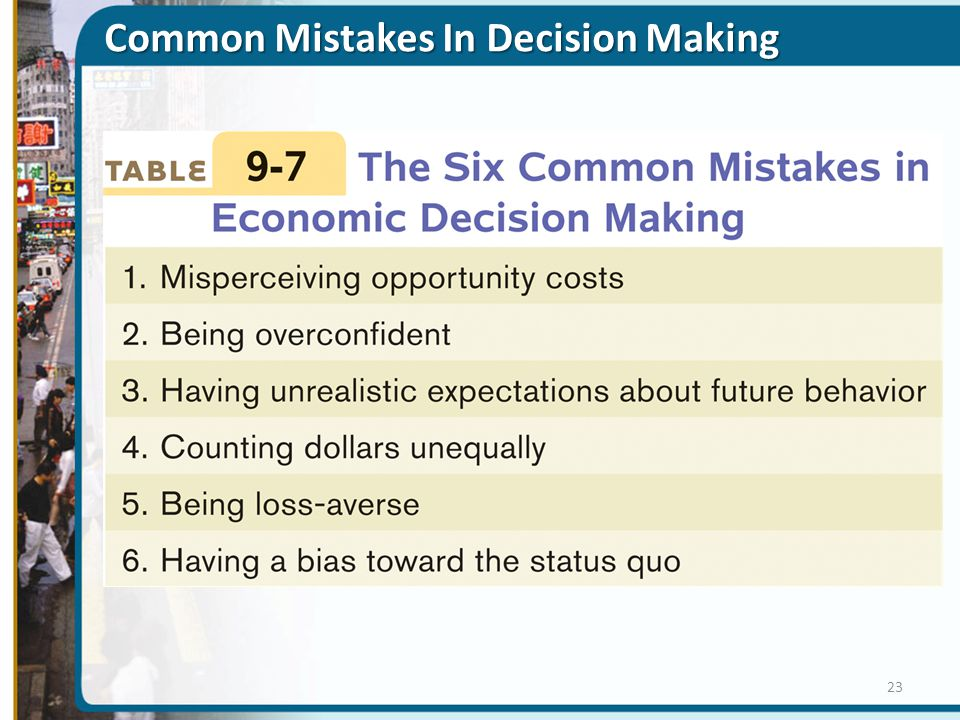 Common Mistakes In Decision Making