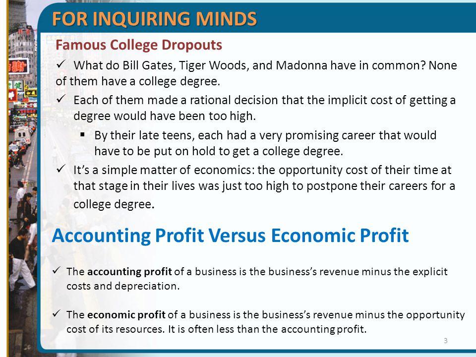 Accounting Profit Versus Economic Profit