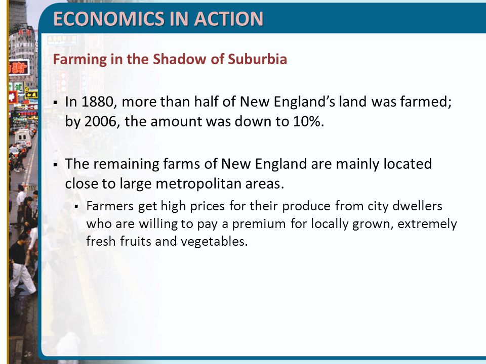 ECONOMICS IN ACTION Farming in the Shadow of Suburbia