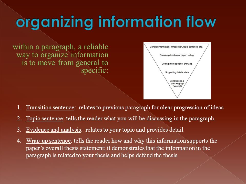 organizing information flow