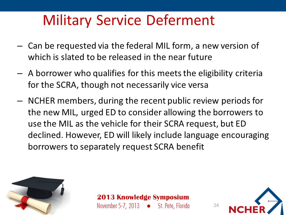 Military Service Deferment