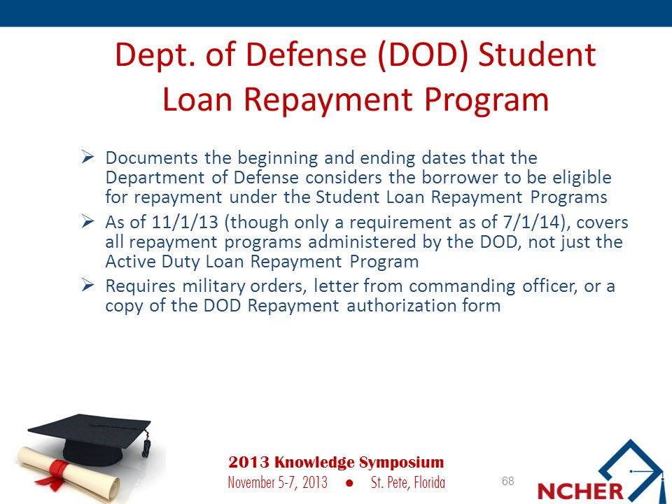Dept. of Defense (DOD) Student Loan Repayment Program