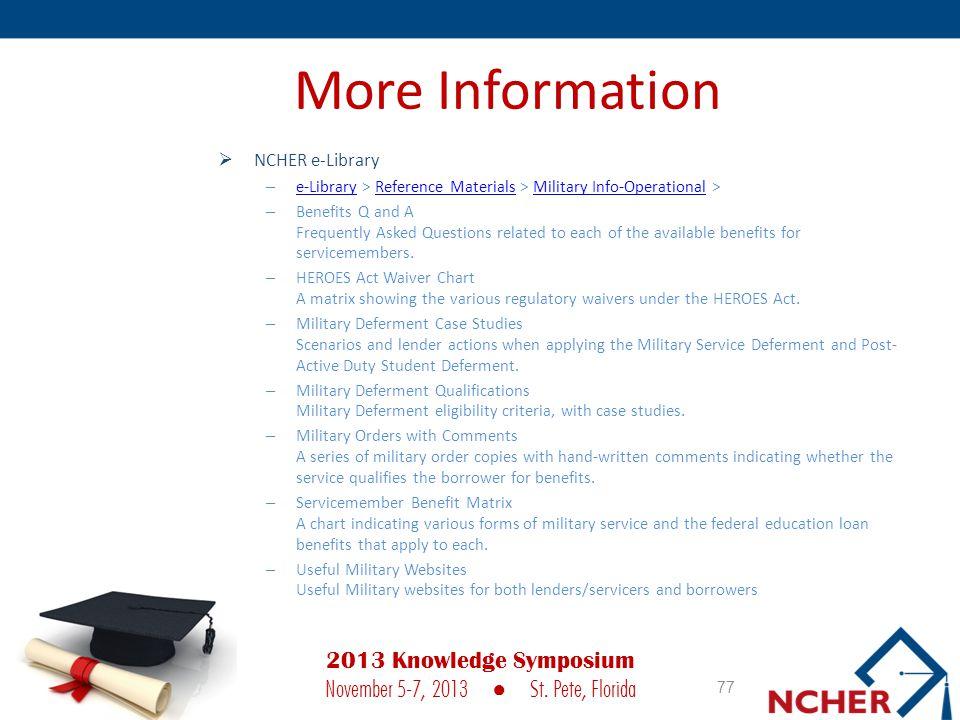 2013 Knowledge Symposium November 5-7, 2013 ● St. Pete, Florida
