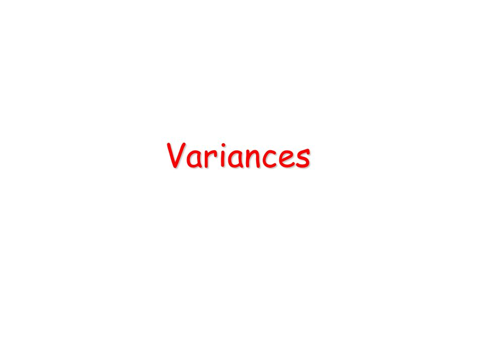 Variances Variance transfers with property