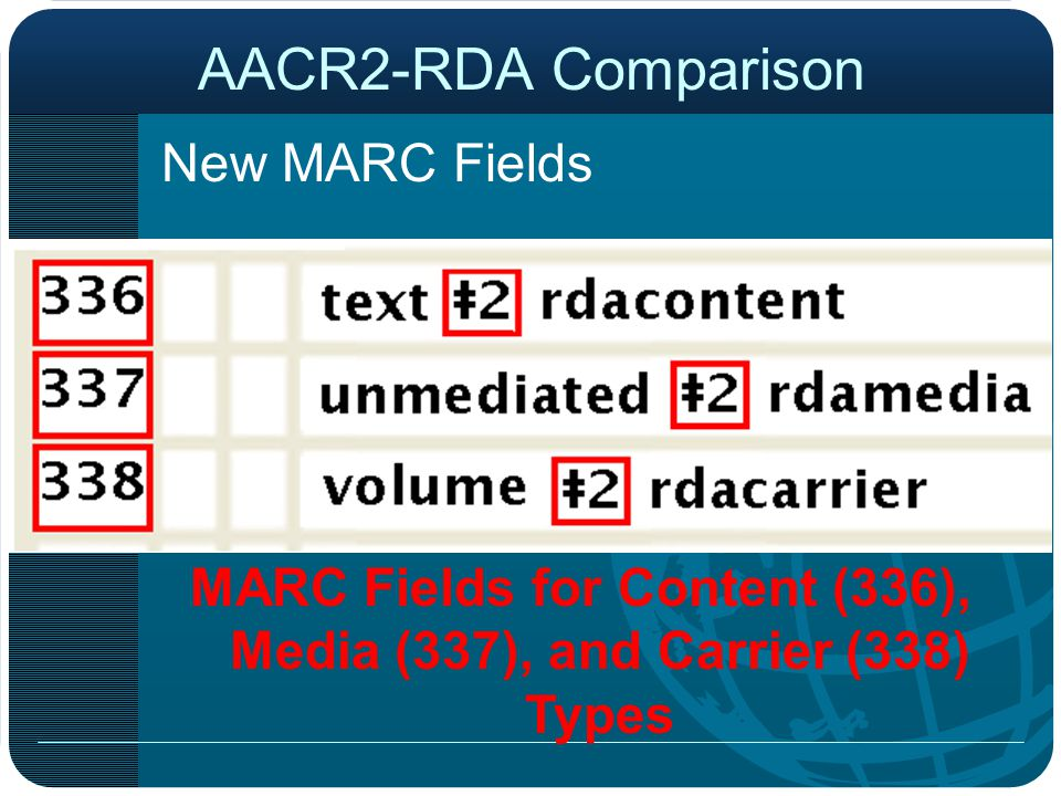 MARC Fields for Content (336), Media (337), and Carrier (338) Types