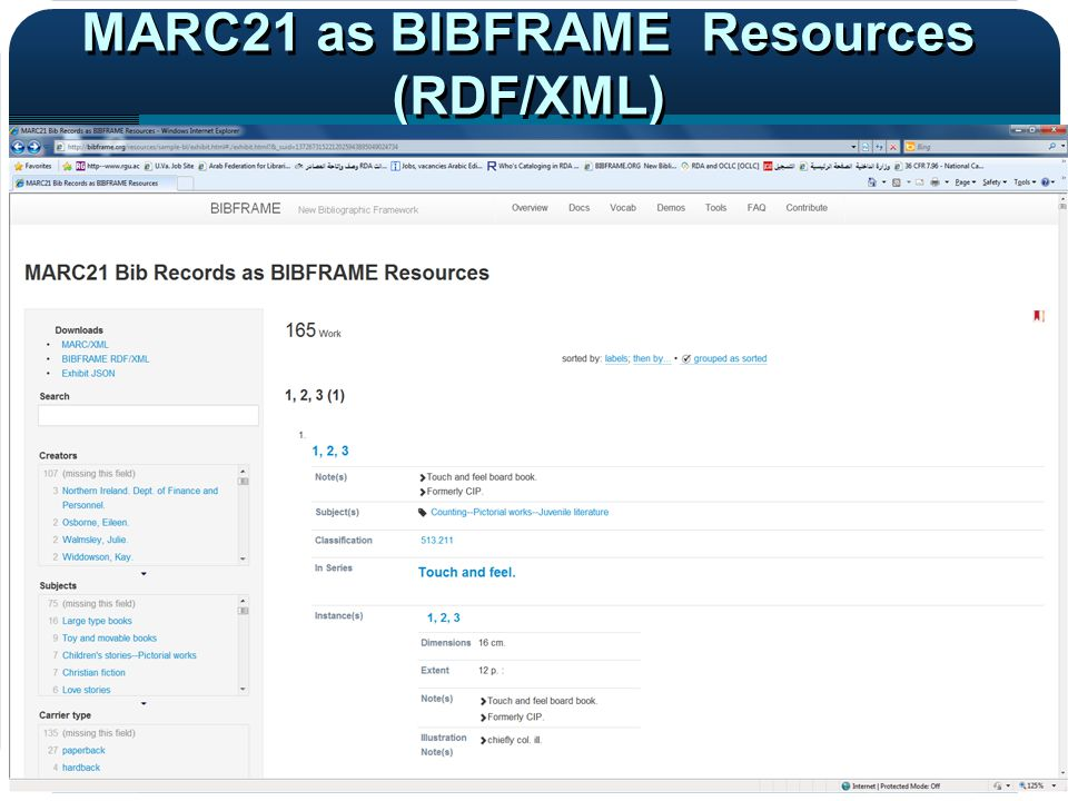 MARC21 as BIBFRAME Resources (RDF/XML)