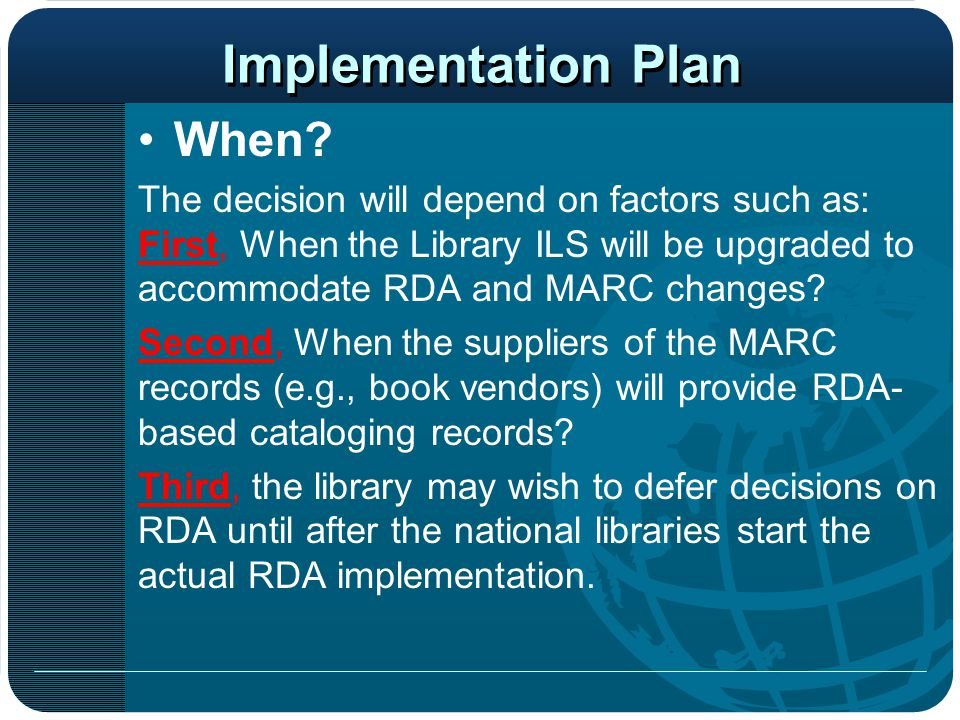 Implementation Plan When