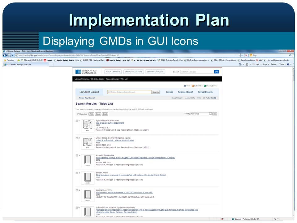 Implementation Plan Displaying GMDs in GUI Icons OPAC display