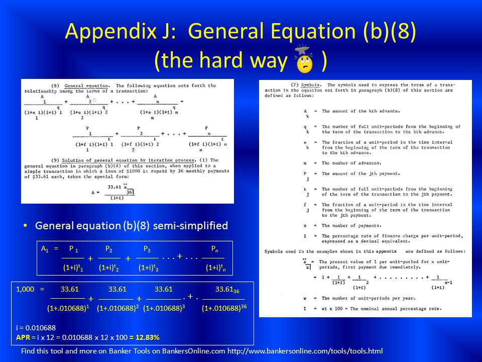 Appendix J: General Equation (b)(8) (the hard way )