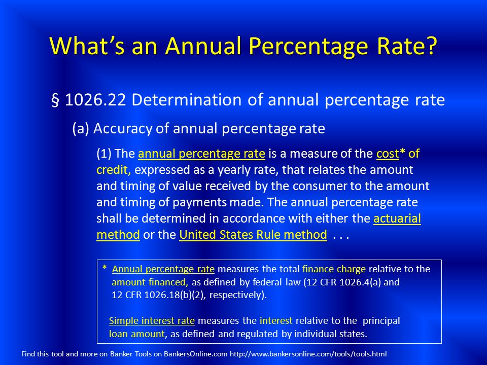 What's an Annual Percentage Rate