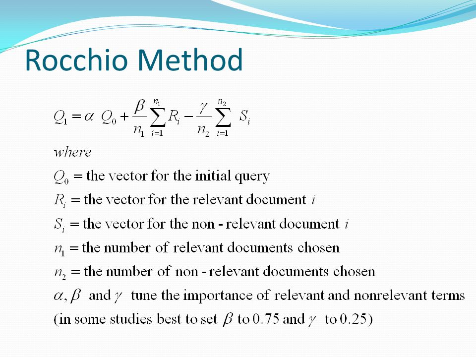 Rocchio Method