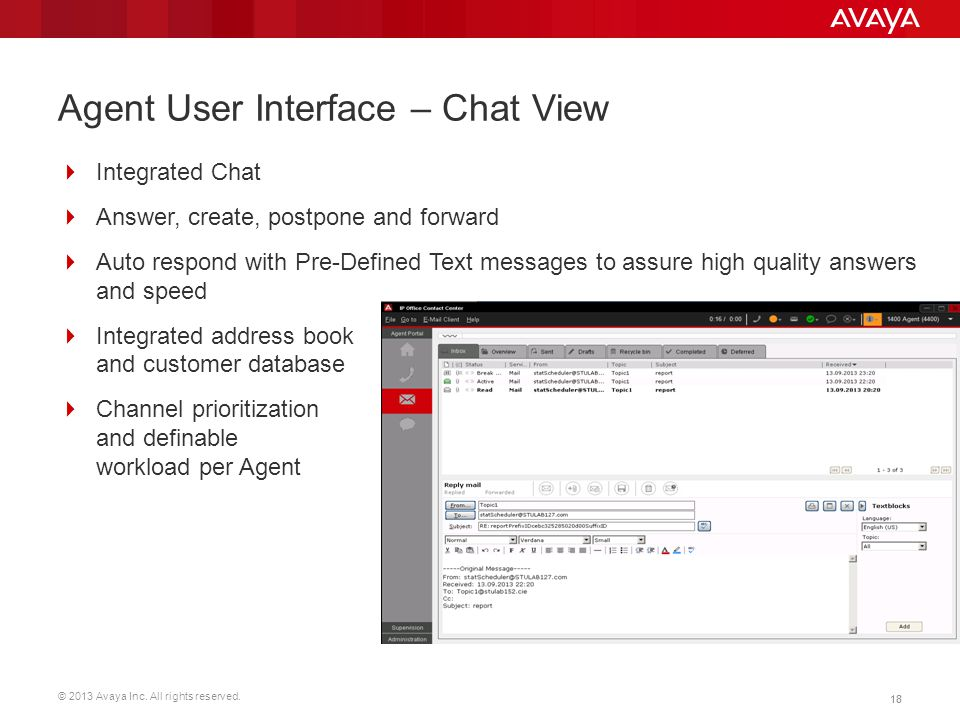 Agent User Interface – Chat View