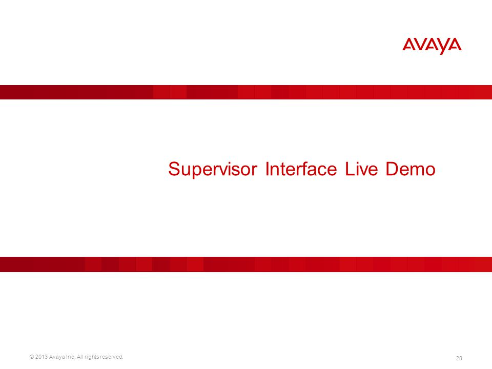 Supervisor Interface Live Demo