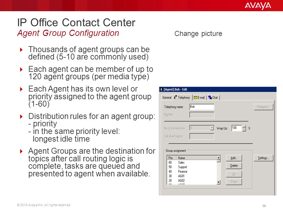 IP Office Contact Center Agent Group Configuration