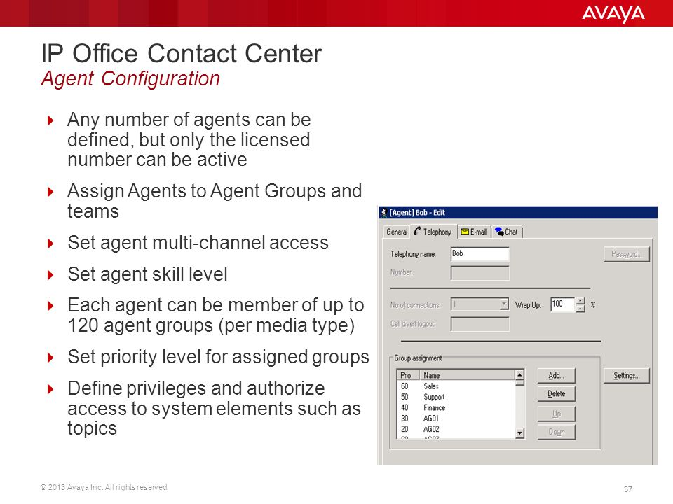 IP Office Contact Center Agent Configuration