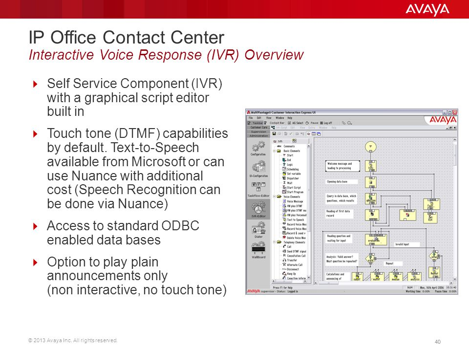 IP Office Contact Center Interactive Voice Response (IVR) Overview