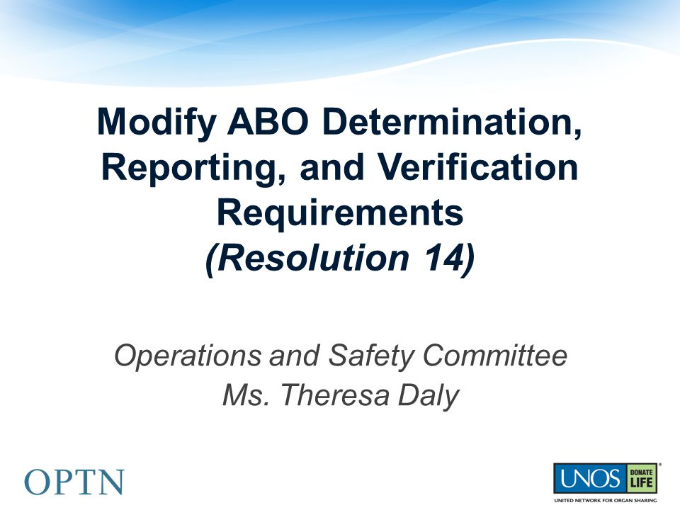 Operations and Safety Committee Ms. Theresa Daly