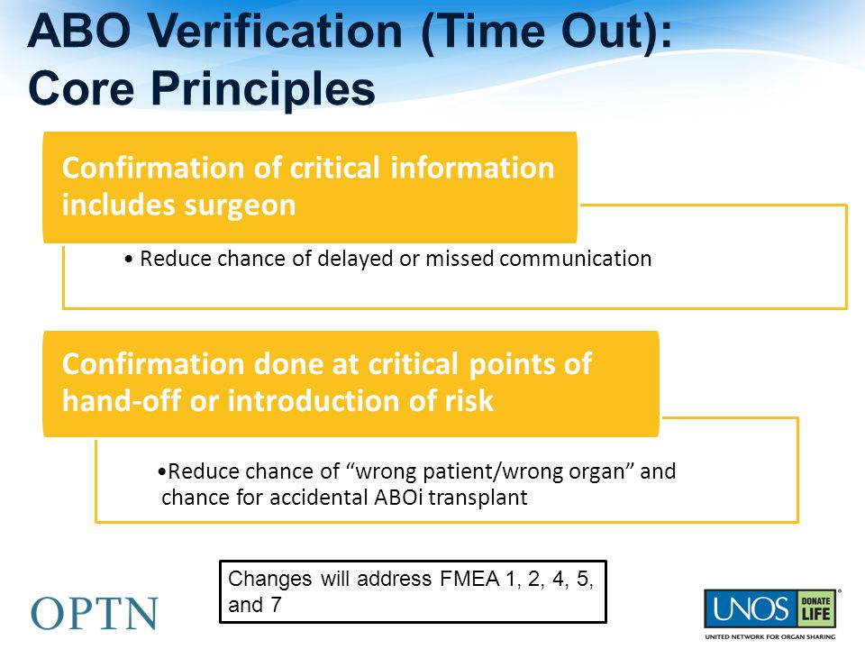 ABO Verification (Time Out): Core Principles