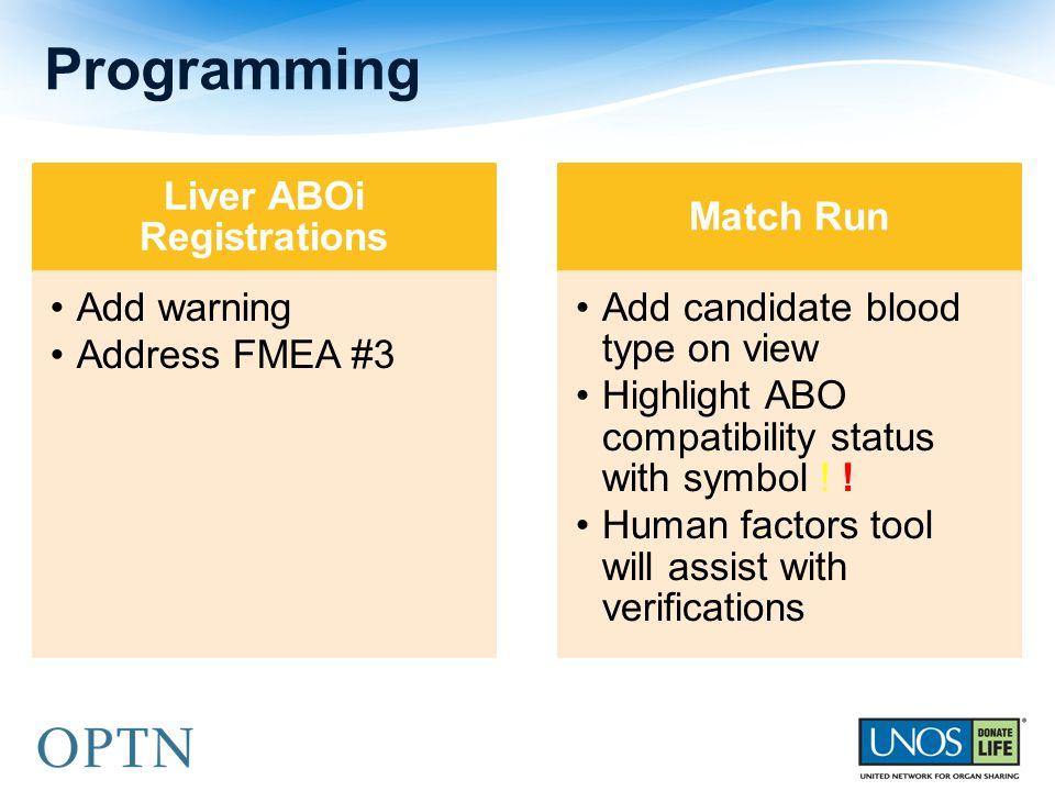 Liver ABOi Registrations