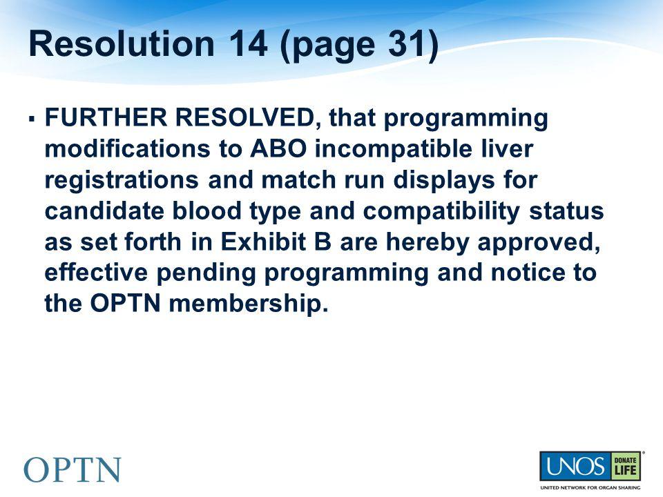 Resolution 14 (page 31)