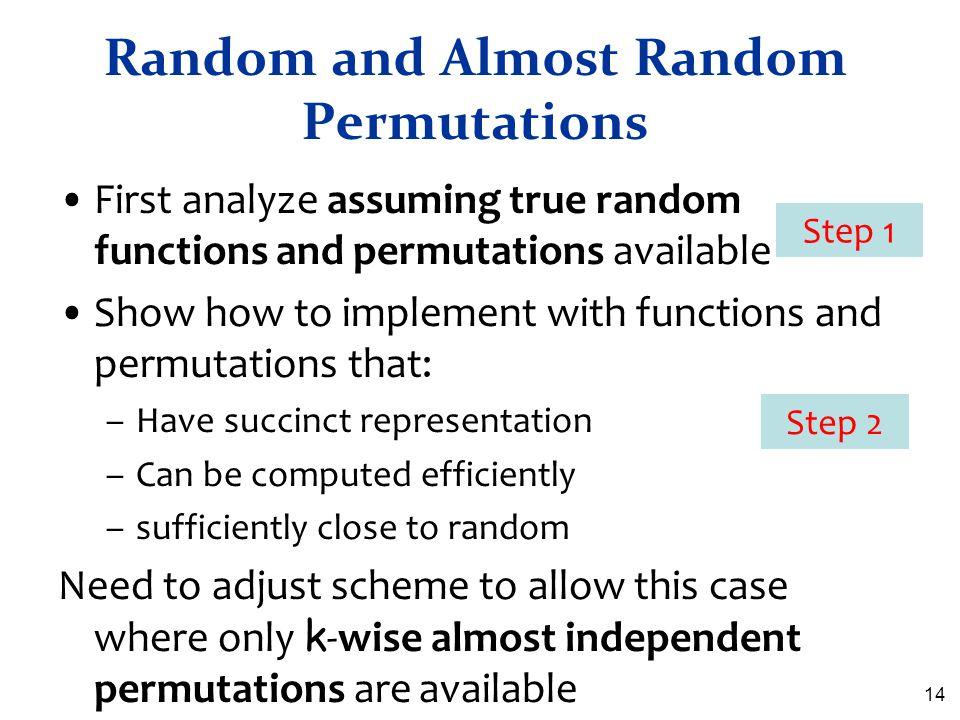 Random and Almost Random Permutations