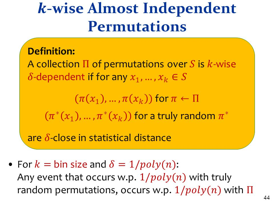 𝒌-wise Almost Independent Permutations