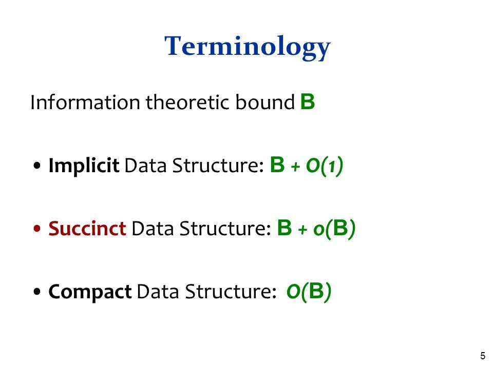 Terminology Information theoretic bound B