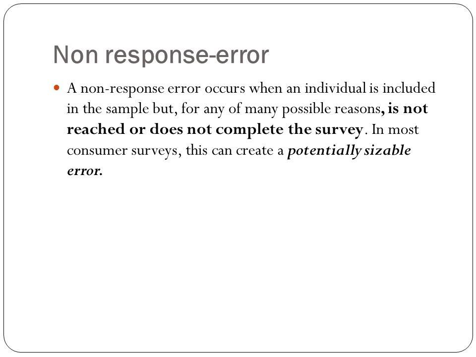 Non response-error