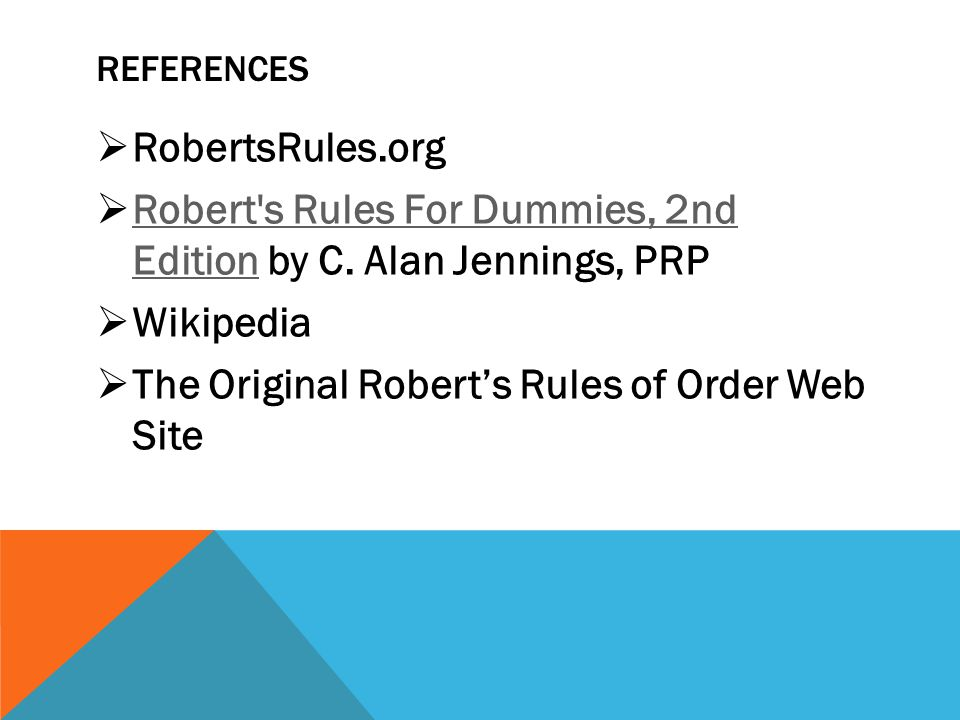 Robert s Rules For Dummies, 2nd Edition by C. Alan Jennings, PRP
