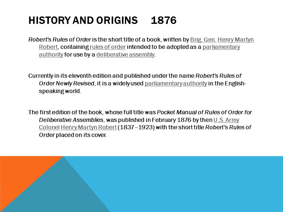 History and origins 1876