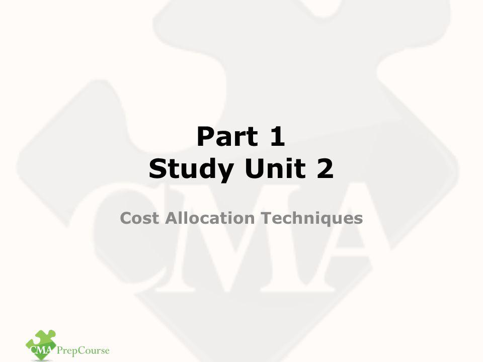 Cost Allocation Techniques