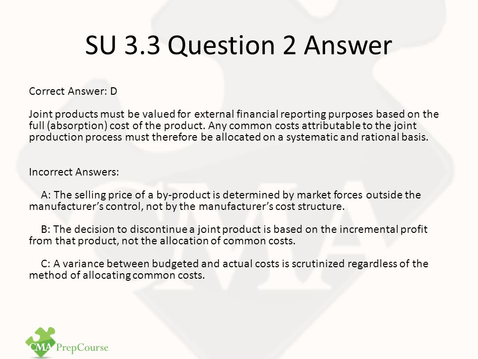 SU 3.3 Question 2 Answer